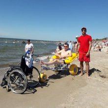 Klaipėdoje išsipildė neįgaliojo skuodiškio svajonė