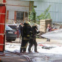 Kaune užsidegė komercinės patalpos: evakuoti darbuotojai