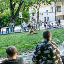 V. Putvinskio gatvės dienos renginiai persikėlė į kiemus ir skverus