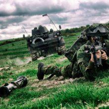 Lietuvos kariai Britanijoje ruošiasi pratybų kulminacijai