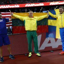 Pasaulio čempionas A. Gudžius: iki paskutinio metimo nebuvau ramus