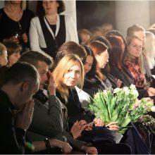 J. Jankevičiaus mergina sužibo drabužių kolekcijos pristatyme