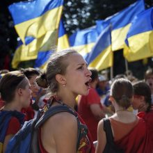Kijeve įvyko masinis protestas prieš dažnėjančias atakas prieš aktyvistus