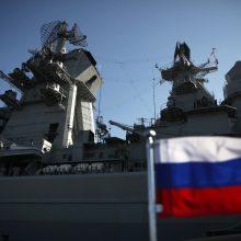 Rusija pradėjo trijų dienų karines pratybas Baltijos jūroje