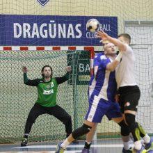 """""""Dragūno"""" rankininkams nepavyko patekti į stipriausių Baltijos lygos komandų ketvertą"""