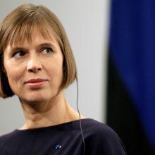 Estijos prezidentė sukritikavo Rusijos žiniasklaidą dėl jos skleidžiamos propagandos