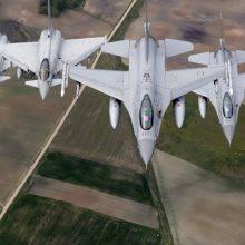 NATO naikintuvai lydėjo tik vieną Rusijos karinį lėktuvą