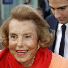 Mirė turtingiausia pasaulyje moteris L. Bettencourt