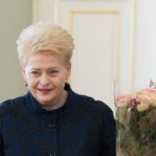 Sveikinimai: prezidentė D. Grybauskaitė šiandien švenčia gimtadienį
