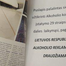 Vyriausybė pati teiks siūlymus dėl alkoholio reklamos užsienio leidiniuose