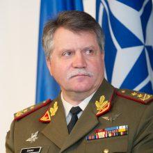 Lietuvos kariuomenės vadas savaitei išvyksta į JAV