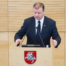 Opozicija įvertino biudžeto projektą: S. Skvernelis ruošiasi prezidento rinkimams