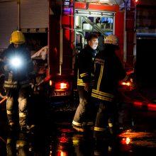 Aliarmas Vilniuje: kilo gaisras pastate su angliarūgštės balionais