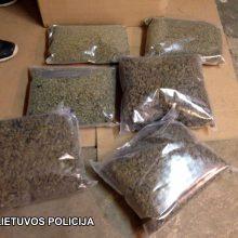 Kvaišalų platintojams – policijos smūgis: rastas labai didelis kiekis kanapių