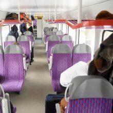 Pasitinkant mokytojų dieną – pamokos traukiniuose