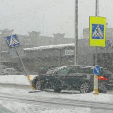 Kaune pasipylė eismo įvykiai: jų – beveik dvigubai daugiau nei vakar