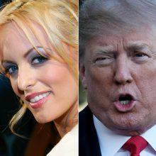 Pornožvaigždė teigia buvusi prigrasyta tylėti apie nuotykį su D. Trumpu