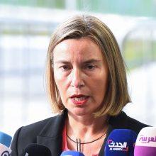 F. Mogherini: ES migrantų misijai reikia skubaus laikino sprendinio
