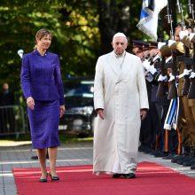 Popiežius atvyko į Estiją