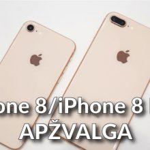 """""""iPhone 8"""" ir """"iPhone 8 Plus"""": žanro klasika ar vargšai """"iPhone X"""" giminaičiai?"""