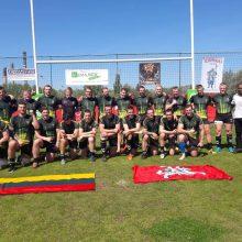 Lietuvos regbio rinktinė išplėšė pergalę Vengrijoje ir priartėjo prie savo tikslo