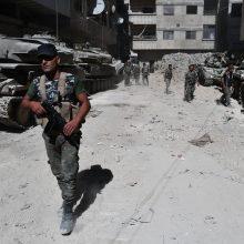 """Sirijos vyriausybė atnaujina puolimą prieš """"Islamo valstybę"""" Damaske"""