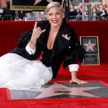 Dainininkė Pink gavo žvaigždę Holivudo Šlovės alėjoje