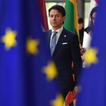 Italijos premjeras grasina vetuoti ES viršūnių susitikimo pareiškimą dėl migracijos