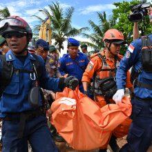 Indonezijos cunamio aukų skaičius perkopė 370