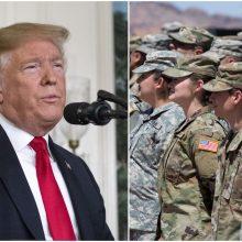 D. Trumpas pasiekė savo – bus ribojamas translyčių tarnavimas kariuomenėje?