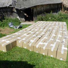 Kontrabandininkai neteko beveik 160 tūkst. eurų vertės rūkalų