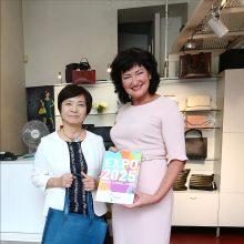 Buvusi Japonijos ambasadorė Lietuvoje svečiavosi Kaune