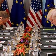 Europa ir D. Trumpas bendros pozicijos dėl Rusijos dar neturi