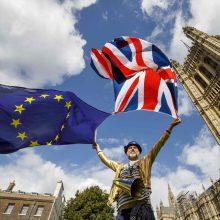"""""""Brexit"""" projektas įveikė pirmąjį barjerą parlamente"""