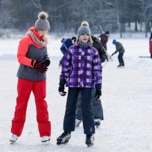 Savaitgalį klaipėdiečiai pasinėrė į žiemos pramogas