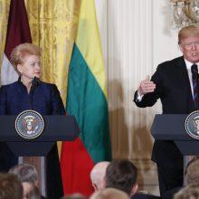 Prezidentė pasveikino D. Trumpą JAV Nepriklausomybės dienos proga