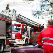 Ugniagesiai sukelti ant kojų: Aleksote dega ūkiniai pastatai