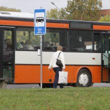 Autobusai į priemiesčius veš žiemos ritmu