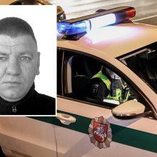 Nuo policijos slapstosi sunkiu nusikaltimu įtariamas vyras (gal matėte?)