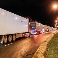 Dėl avarijos pasienyje su Lenkija formuojasi vilkikų spūstis: uždarytas eismas