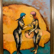 Dėmesys: žinomų menininkų darbų šiemet vėl skleis žinią apie Pagalbos moterims liniją.