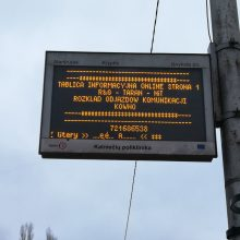 Kauno stotelės švieslentėje – lenkiški užrašai