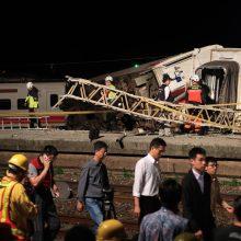 Per traukinio avariją Taivane žuvo 18 žmonių, 160 sužeista