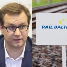 """M. Bartuška: nesutinku, kad """"Rail Baltica"""" projektas – stagnacijoje"""