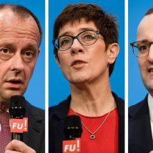 Kas pretenduoja pakeisti A. Merkel krikščionių demokratų sąjungos vadovės poste?