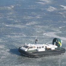 Ant Kuršių marių ledo – meškeriotojų desantas <span style=color:red;>(skendo 9 žvejai)</span>