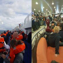 Incidentą patyrusio kelto keleivis: kelionė neprailgo