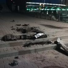 Vėlų vakarą Klaipėdoje siaubą kėlė BMW
