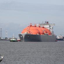Į uostamiestį atplaukė naujas SGD krovinys
