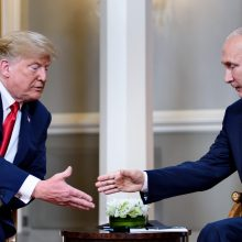 Helsinkyje prasidėjo D. Trumpo ir V. Putino derybos (pildoma)